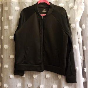 Tek Gear Black Raglan Track Jacket size XL